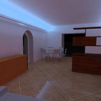 Rendering Sala Dimmerata
